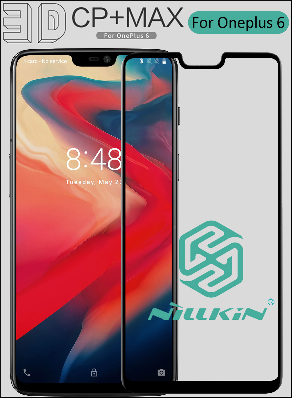 Nillkin 3D CP+ Max Tempered Glass For Oneplus 6 Full Screen Cover Curved Protective oleophobic