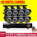 Sistema de CCTV DVR NVR HVR 960 h 8CH AHD 1080N dvr con 8 unids 900tvl cámaras de seguridad del sistema dvr kit hdmi 3g wifi de alarma de correo electrónico