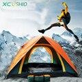 Качественная фирменная палатка двухслойная для 3-4 человек, 3-4 местная непромокаемая наружная палатка для пешего туризма рыбалки охоты приключений пикника отдыха на природе