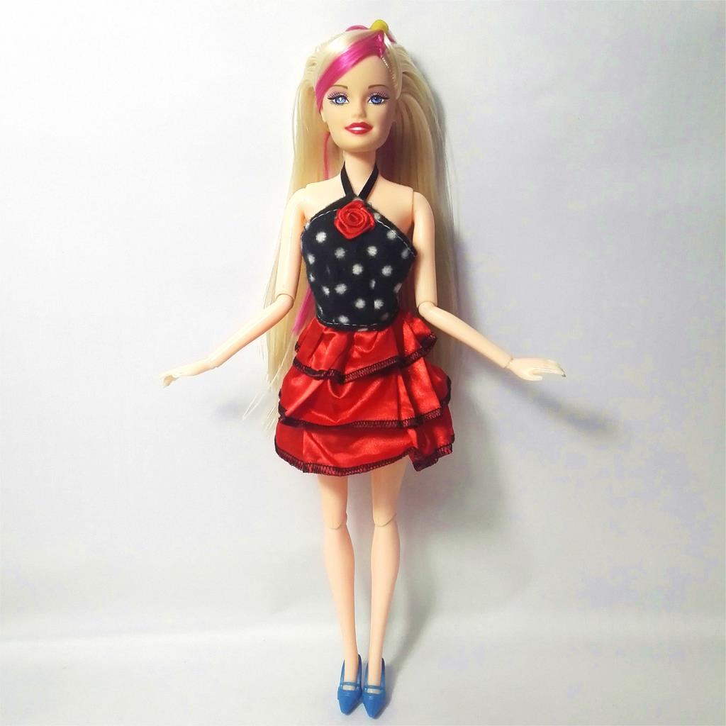 2018 Newest Doll Dress Beautiful Handmade Party ClothesTop Fashion Dress For Barbie Noble Doll Best Child GirlsGift 986A