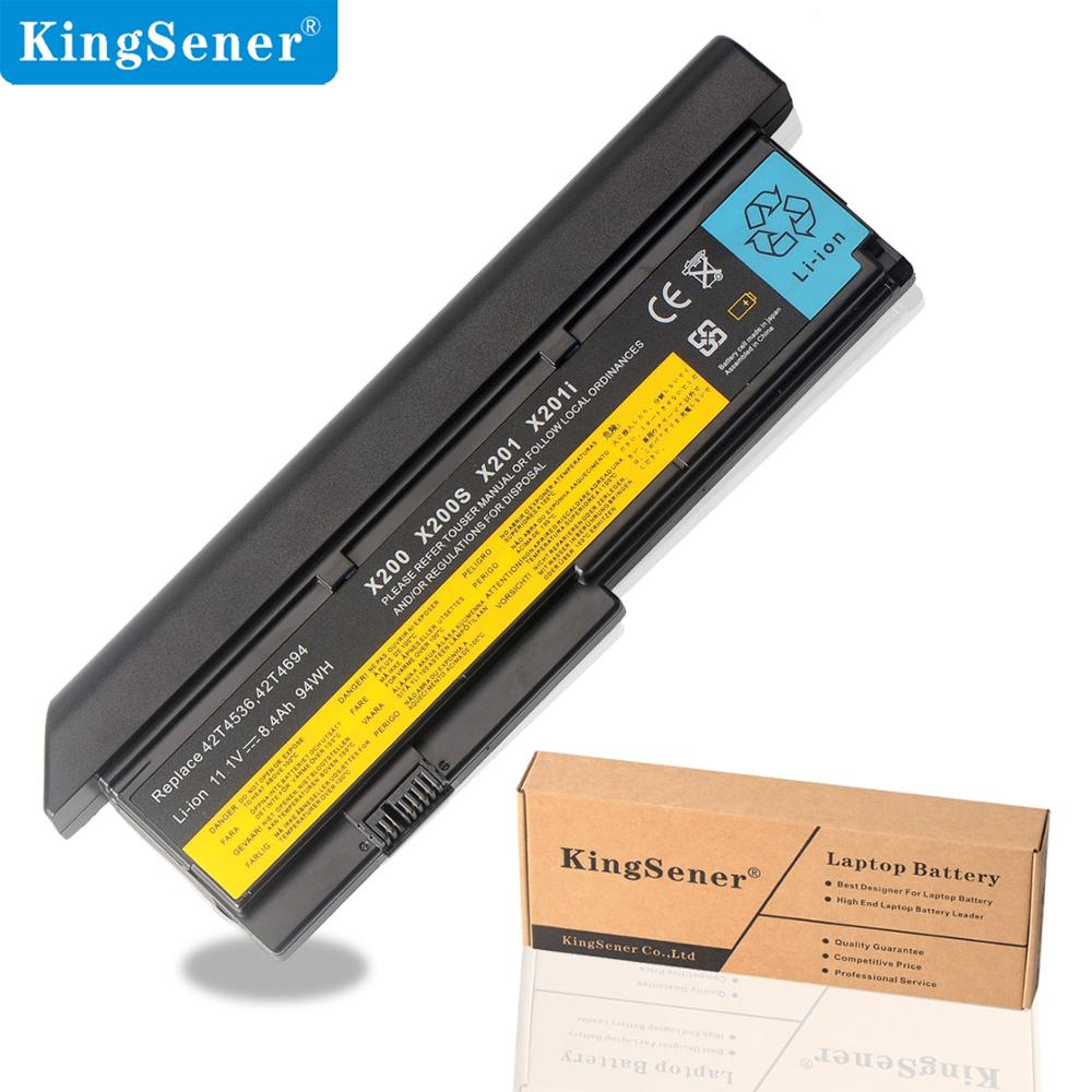 KingSener New Laptop Battery For Lenovo IBM ThinkPad X200 X200S X201 X201I 42T4834 42T4535 42T4543 42T4650 42T4534 45N117 8.4Ah