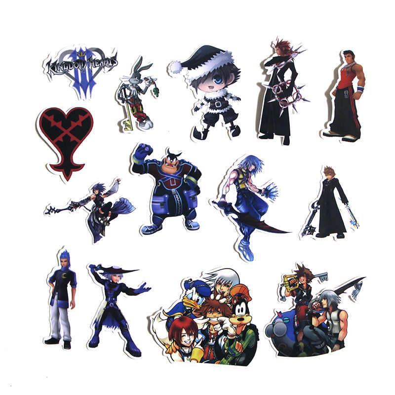 50pcs Kingdom Hearts Scrapbooking per notebook muro del telefono del computer portatile da viaggio della bicicletta chitarra Graffiti Decalcomania album adesivi M2654