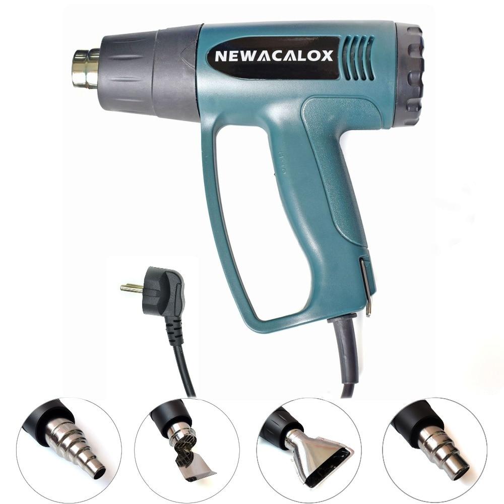 NEWACALOX 2000 Watt 220V EU Plug Industrial Electric Hot Air Gun Thermoregulator Heat Guns Shrink Wrapping