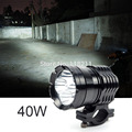 For 4T6 external motorcycle headlight four lamp beads 40W LED super bright long-range spotlights