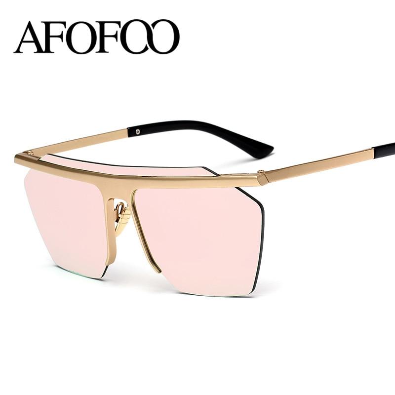 2f0882cbffba8 AFOFOO Superdimensionada Óculos De Sol Marca de Luxo Designer de Moda  Siameses Lente de Óculos Mulheres Espelho óculos de Sol Dos Homens UV400  Shades