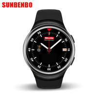 Sunbenbo New Smartwatch X3 Smart Watch 3G Bluetooth Android Watch Support Heart Rate GPS Play Store