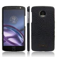 Snap On Ultra Slim Crocodile PU Leather Hard Protection Phone Cover Case For Motorola Moto Z2