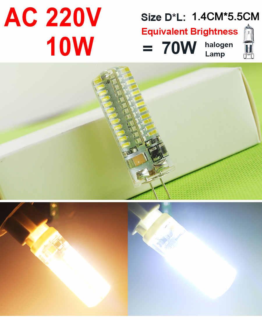 Nouveau G4 220V ACDC 12V COB LED ampoule 4W 6W 12W LED G4 COB lampe DC12V 3W 5W 10W lumière LED cristal ampoule projecteur lustre Lampada