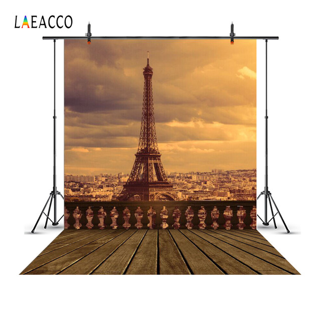 US $3 99 |Laeacco Eiffel Tower Paris Cloudy Sky Twilight Scenic Photography  Backgrounds Customized Photographic Backdrops For Photo Studio-in