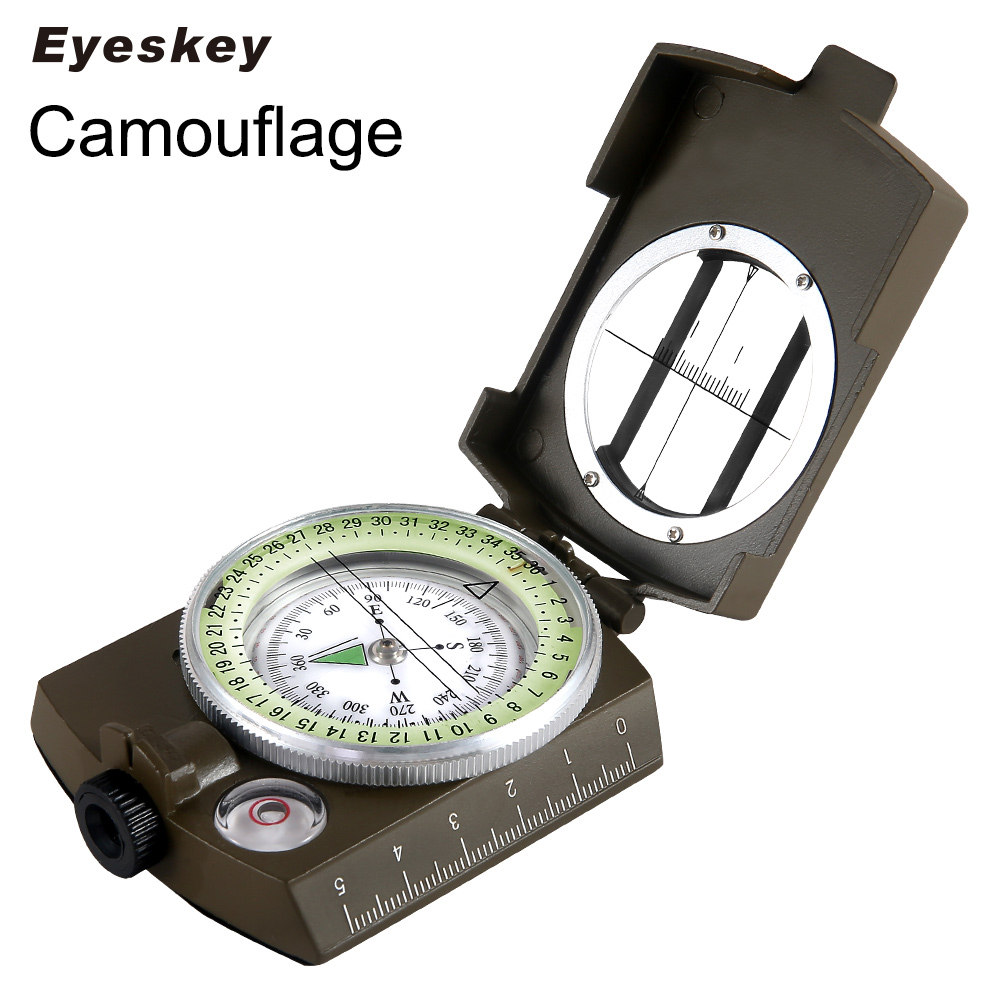 Eyeskey Rezistență la apă Compass militar Drumeții Camping Army Buzunar Military Lensatic Compass Handheld Military Equipment