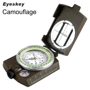 Eyeskey wodoodporny Survival kompas wojskowy Camping armia kieszonkowy wojskowy kompas ręczny sprzęt wojskowy tanie i dobre opinie Typu handheld Metal Wskaźnik Wskazując przewodnik 3 4in x 2 5in x 1 1in EK1001M HIKE Camouflage 3 35 in x 2 52 in x 1 14 in (8 5 cm x 6 3 cm x 3 0 cm)