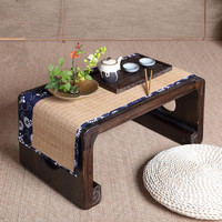Oriental Furniture Chinese Low Tea Table Small Rectangle 60x34cm Living Room Side Table For Tea, Coffee Antique Gongfu Tea Table
