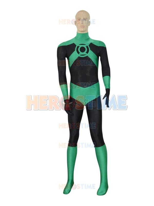 Deep Green Lantern Corps Costume The Most Popular Halloween Cosplay Custom Spandex Lantern Superhero Costume Zentai Suit