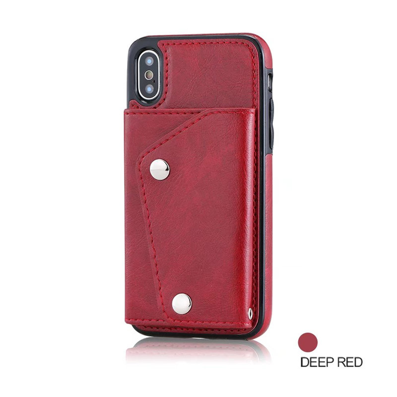 Luxury Cover for iPhone X Case Wallet Cards Slots (14)