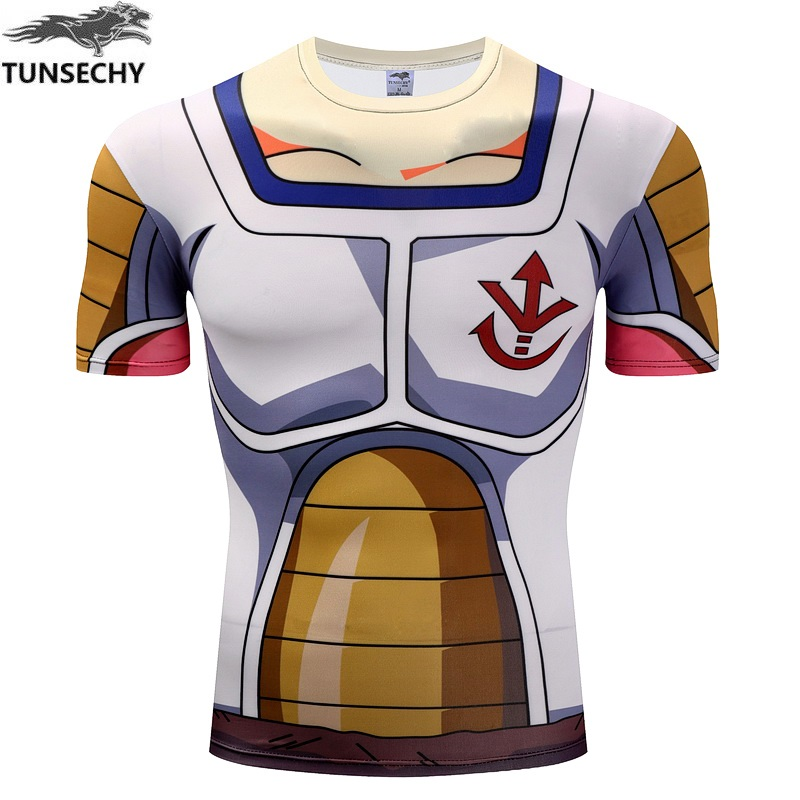 TUNSECHY male teenagers dragonball T-shirt turtle fairy compression Round collar short sleeve T-shirt Wholesale and retail