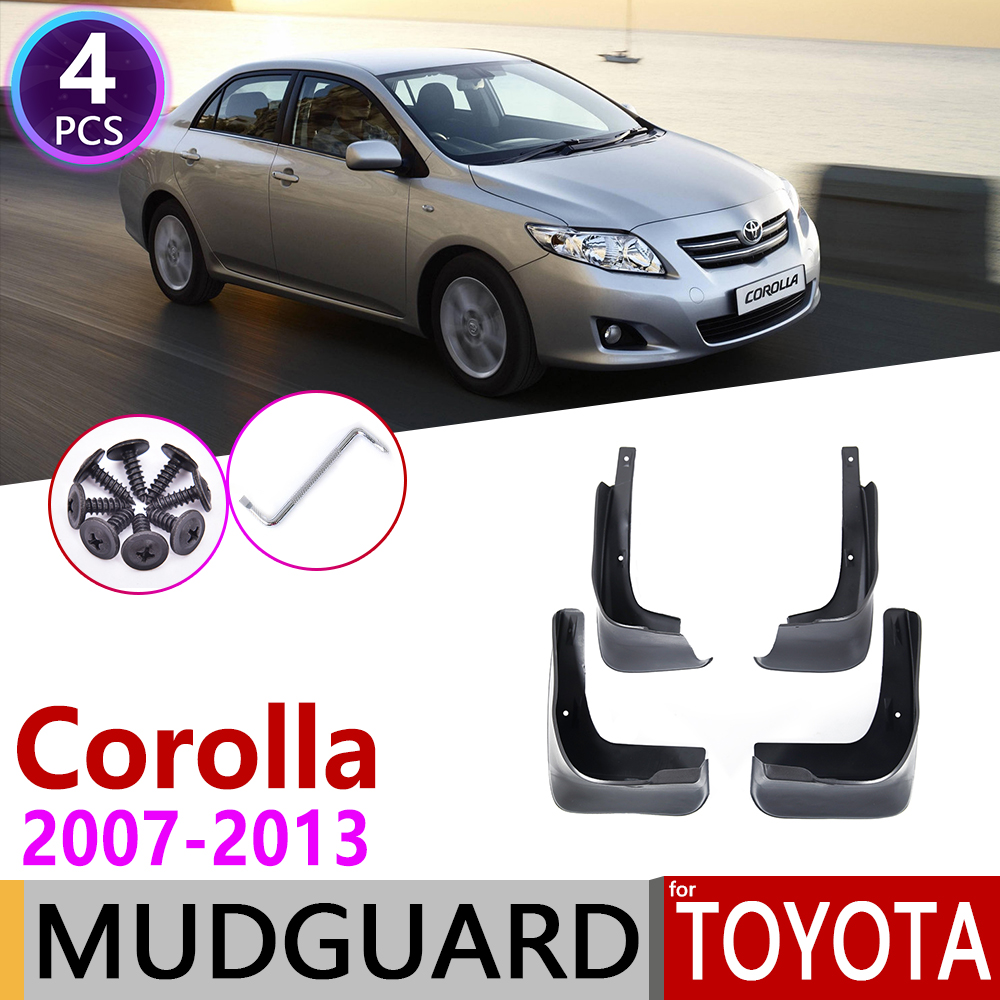 For Toyota Corolla Altis E140 2007~2013 Mudflap Fender Mud Flaps Guard Splash Flap Mudguard Accessories 2008 2009 2010 2011 2012