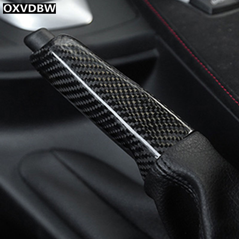 Carbon Fiber Interior Hand brake set Cover Car Styling Sticker For BMW F30 F32 F34 F36 Accessories car acessories carbon fiber interior cover trim fit for bmw all models hand brake knob with m logo car styling