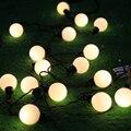 Novidade lighting3cm tamanho grande lâmpadas LED Bola de cordas de fio Preto Ao Ar Livre Luzes De Natal de fadas jardim de casamento pingente guirlanda