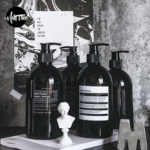 500 мл черная Скандинавская бутылочка для хранения шампуня для ванной в скандинавском стиле, элегантная бутылка для хранения в путешествии, органайзер, Декор для дома