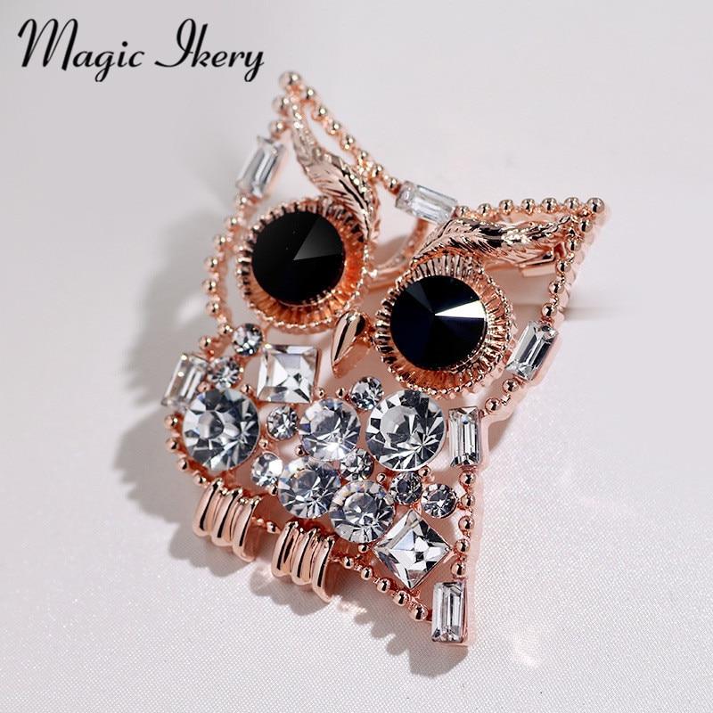 Magic Ikery Fashion Cute Owl Animal Brooch Pin Birthday Gift  Garment Accessories For Women Jewelry YT-B551