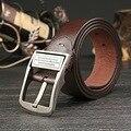 2017 Pantalones Vaqueros de Moda de Alta Calidad de La Vendimia Genuina Correa de Cuero de Vaca de La Cintura Ceinture Homme Cinturones Diseñador de la Marca de Lujo Para Los Hombres
