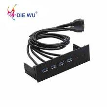 컴퓨터 액세서리 전면 패널 4 포트 USB 3.0 USB 2.0 USB 3.1 Type C 허브 분배기 내부 콤보 브래킷 어댑터