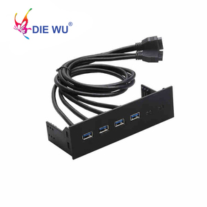 Image 1 - Computer accessories front panel 4 Ports USB 3.0 USB 2.0 USB 3.1 Type C hub Splitter Internal Combo Bracket Adapter