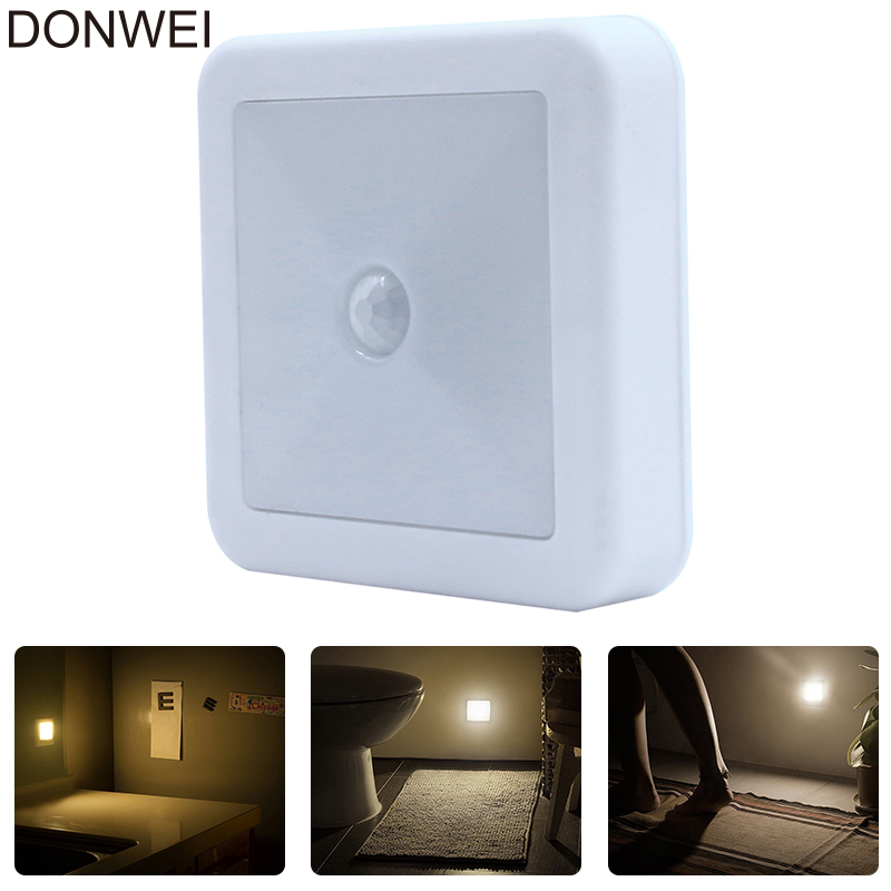IR Motion Sensor LED Wall Lights Night Light Auto On/Off Battery Operated Lamp For Hallway Pathway Staircase Bedside