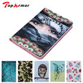 TopArmor For Case Samsung Galaxy Tab S2 9.7 T815 Fashion Printing PU Leather Stand TPU Tablet Case Cover Tab S2 9.7 SM-T810 Fund