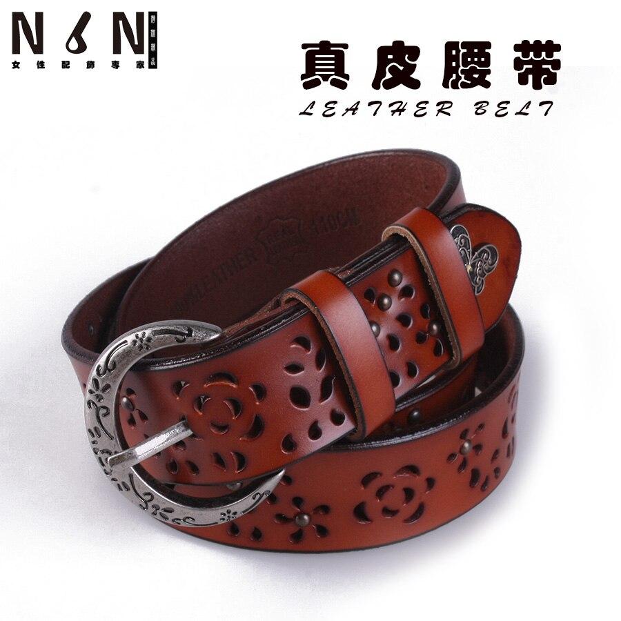 En cuir LvKong de fourrure de mode joker taille décoration décoration obi  jeans ceinture fille personnalité ceinture dbeed352c41