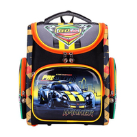 Orthopedic Schoolbags for boy cartoon car Backpack Waterproof Nylon Kids School Bag EVA Folded Children Primary School Backpack