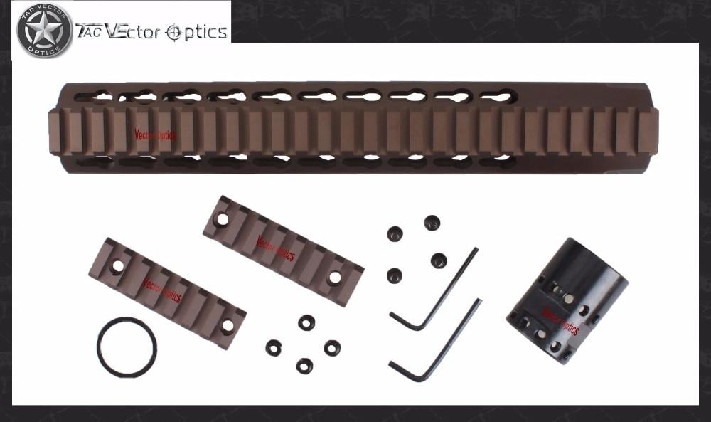 Vector Optics GEN III Slim KeyMod Tactical 10 inch Free Floating Handguard Mount Bracket with STEEL Barrel Nut Wrench Shim Rings стоимость