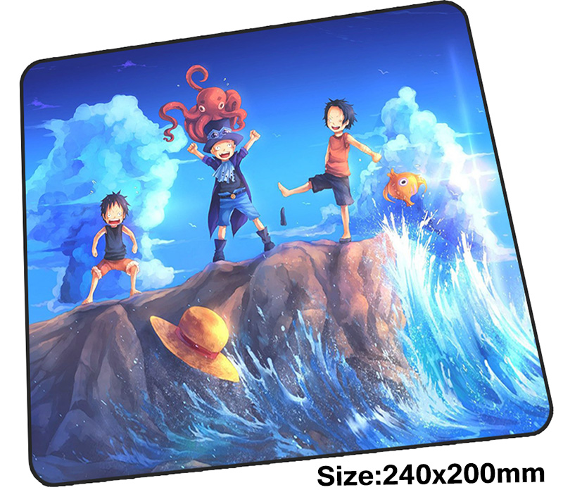 One Piece mouse pad gamer 240x200mm notbook mouse mat Birthday present gaming mousepad Beautiful pad mouse PC desk padmouse ...