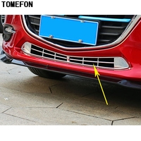 Car Styling ABS Chrome For Mazda 3 M3 Axela 2017 2018 Auto Front Lower Bumper Grille Cover Racing Grill Trim Exterior Sticker