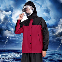 Adults Long Transparent Rainsuit Waterproof with Hood Women Men Cover Coat Womens Rain Coats Impremiable Sets Suit 6R199
