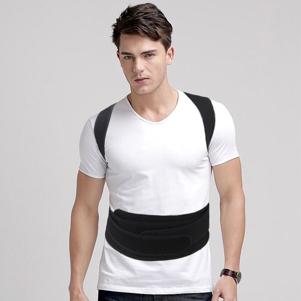Купить с кэшбэком Magnetic Therapy Back Support Posture Corrector Belt Breathable Adjustable Shoulder Support Back Brace Belt Corrector De Postura