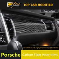 Free shipping TOP CAR MODIFIED for Macan carbon fiber parts fit for Porsche macan interior trims carbon fiber material