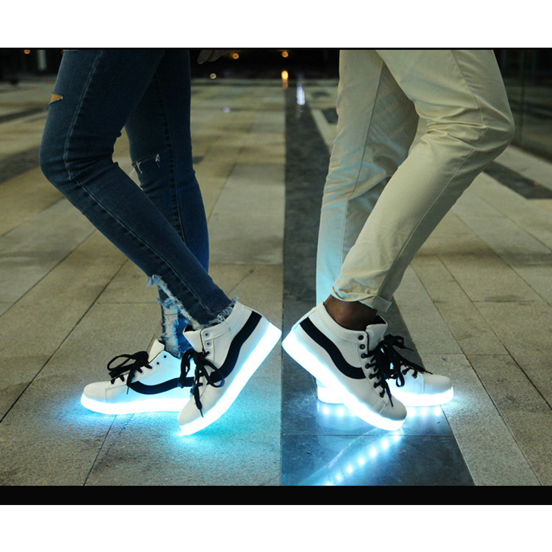 Aliexpress.com : Buy 8 Color Unisex Fashion Light Up Glowing Shoes ...
