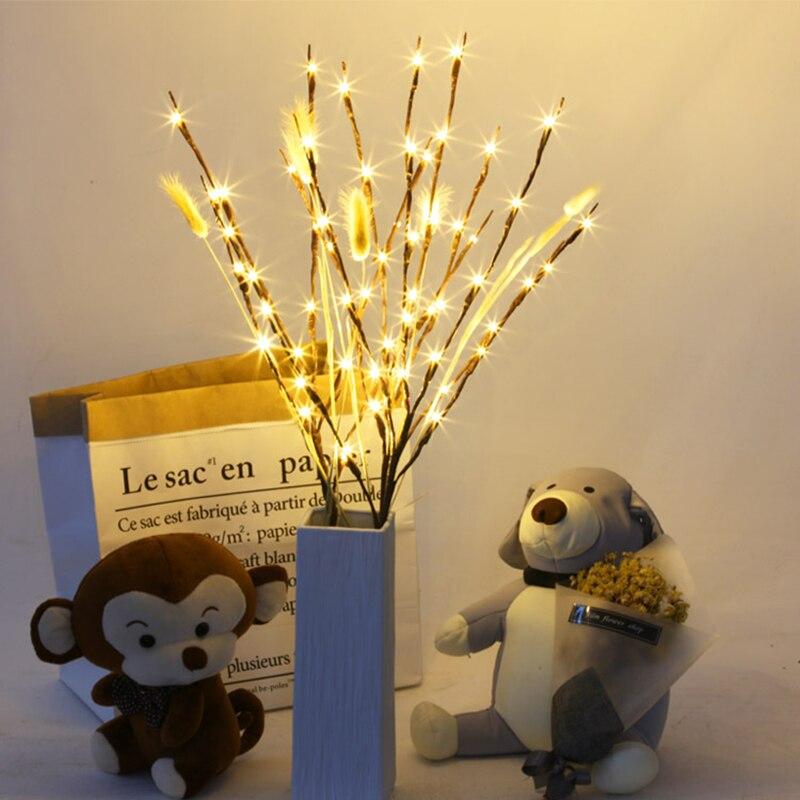 New LED Willow Tree Branch Lamp Christmas Floral Light 20 LEDs Home Party Garden Bedroom Desktop Vase Decoration Light
