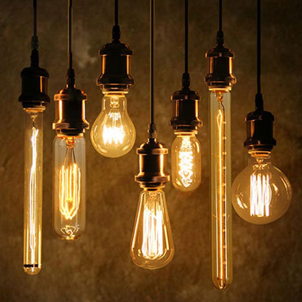 40W Antique Vintage Retro Edison Bulbs E27 Spiral Incandescent Light ST64 A19 G80 LED Edison Lamp For Pendant Lamp Lighting body jewelry