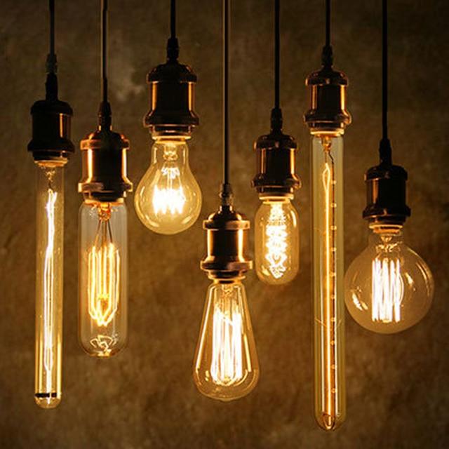 40 W Antieke Vintage Retro Edison Lampen E27 Spiraal Gloeilamp ST64 ...