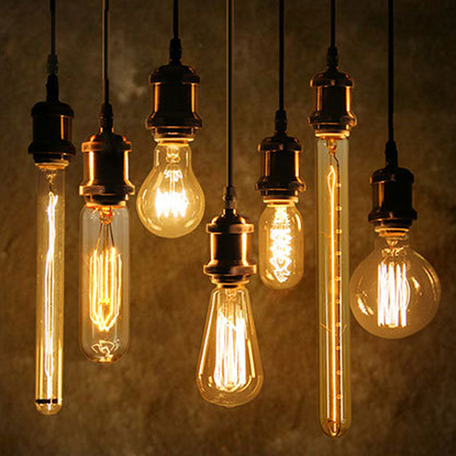 40w antique vintage retro edison bulbs e27 spiral light st64 a19 g80 led edison lamp