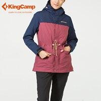KingCamp перо лайнер для Лыжный спорт, Кемпинг Зимняя куртка Для женщин Водонепроницаемый 3 в 1 Лыжная куртка вниз лайнера Зимняя куртка с капюшо