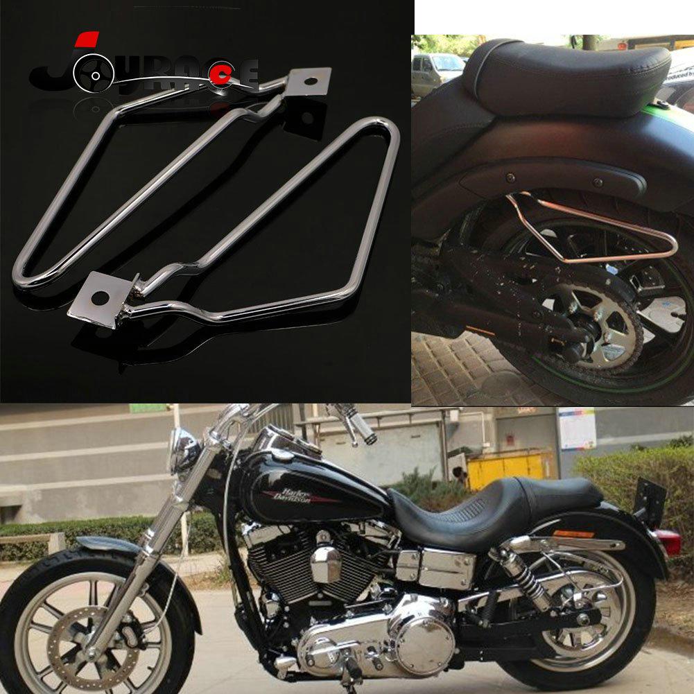 Single Bolt Mount Saddlebag Support Brackets for Harley FXST FLST XL883 XL1200
