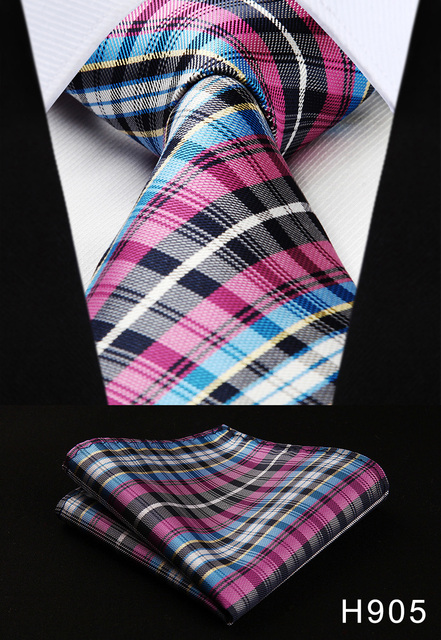 New 3.4″ 100% Silk Classic Tie + Handkerchief