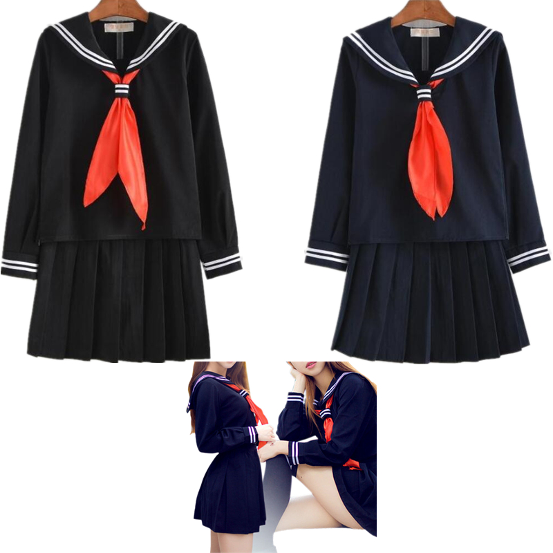 Japanese School Girl Students Sailor Uniform Lolita Sexy Cosplay Costume Skirt