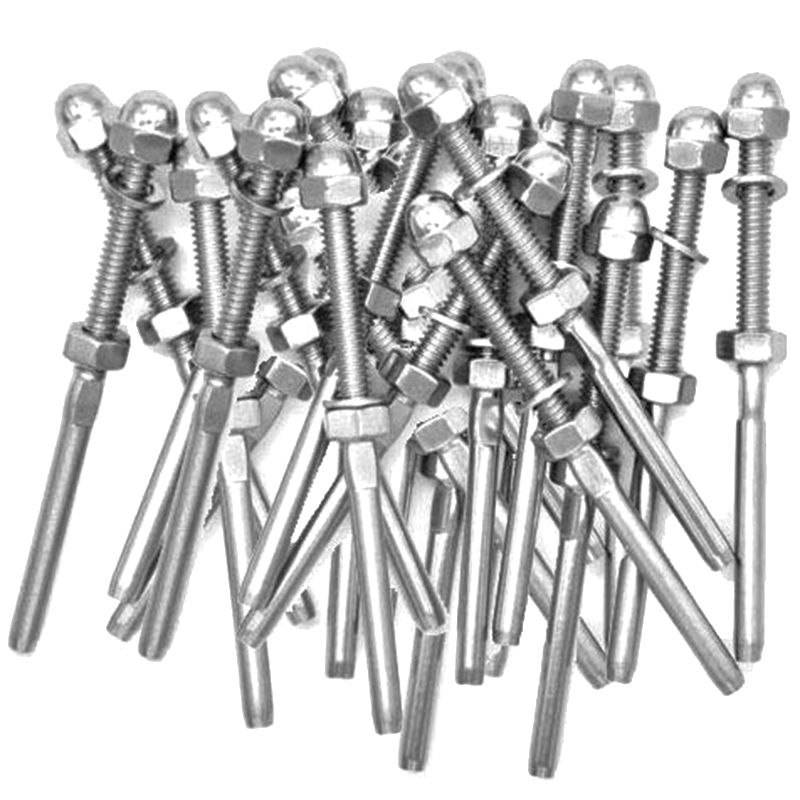 51 Pack Lag Screw Stud Thread Fitting Terminal For 1/8 Inch Cable Railing Hardware Stainless Steel 316 Marine Grade(Lot Of 51)51 Pack Lag Screw Stud Thread Fitting Terminal For 1/8 Inch Cable Railing Hardware Stainless Steel 316 Marine Grade(Lot Of 51)