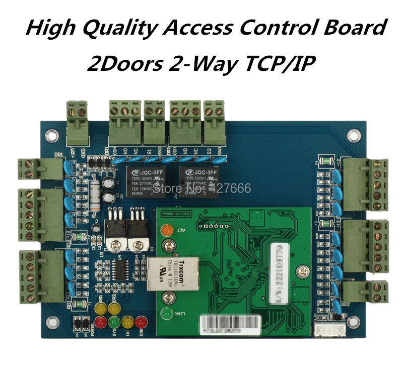 цена на High Quality Wiegand TCP/IP Two Doors Access Control Board ,2 Door Access Control Panel