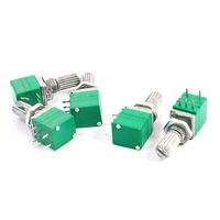5Pcs Single Linear 10K Ohm 5 Pins Carbon Composition Potentiometers