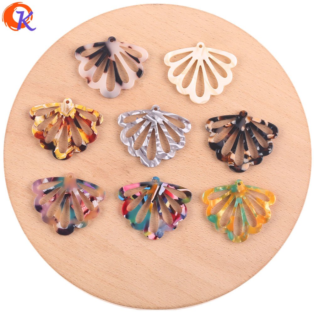 Cordial Design 31*36mm 50Pcs Jewelry Making/DIY Earrings Accessories/Leaf Shape/Acetic Acid/Hand Made/Jewelry Findings Component